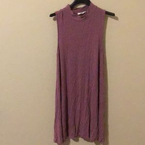 Purple T-shirt dress.